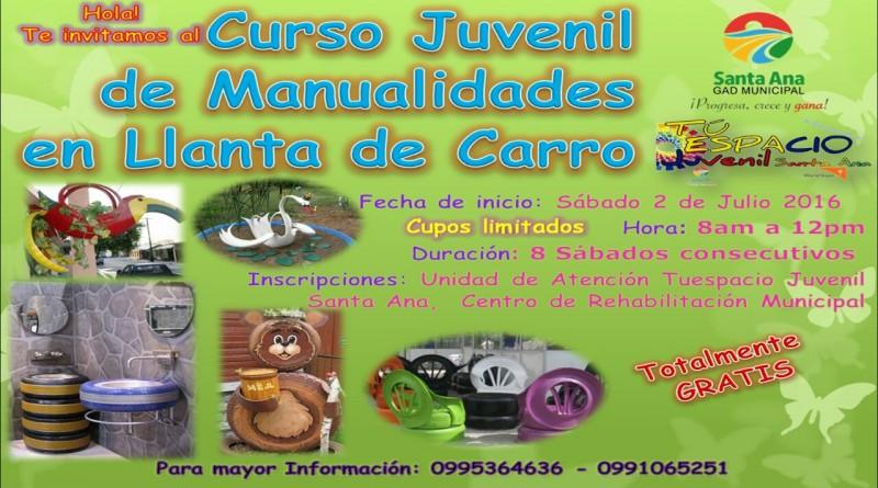 GAD Municipal Santa Ana y Tu Espacio Juvenil preparan curso de manualidades