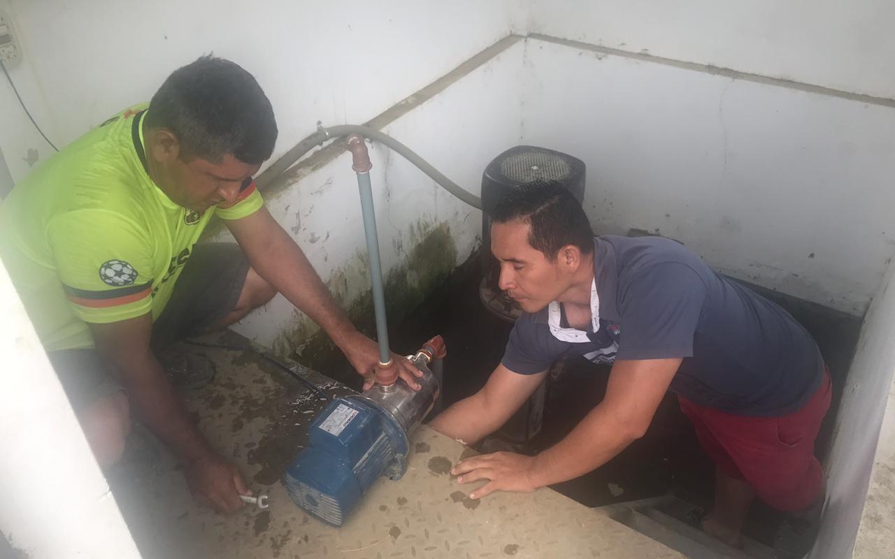 Municipalidad cumplió con cronograma de limpieza de los tanques reservorios de agua potable