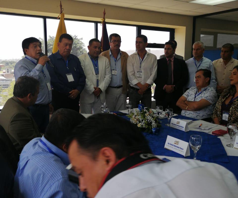 Alcalde de Santa Ana Ramón Mieles Arteaga ocupa representatividad en AME Regional 4