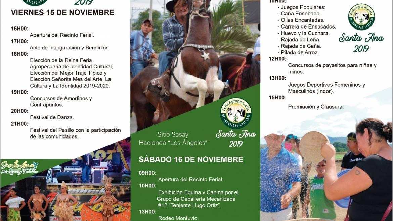 Feria Agropecuaria de Identidad Cultural Santa Ana 2019 se realizará durante 3 días