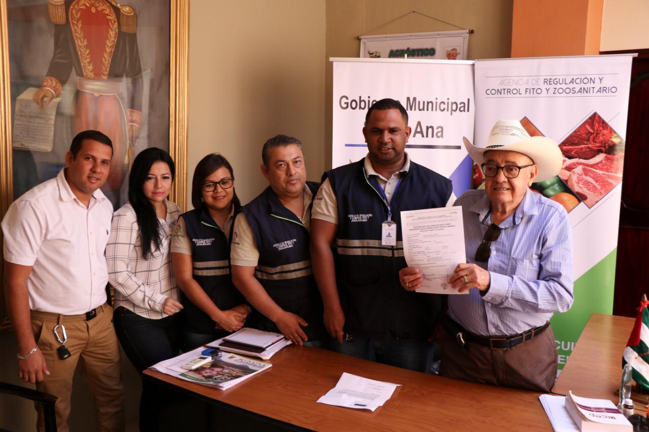 Santa Ana recibe certificado MABIO para Centro de faenamiento