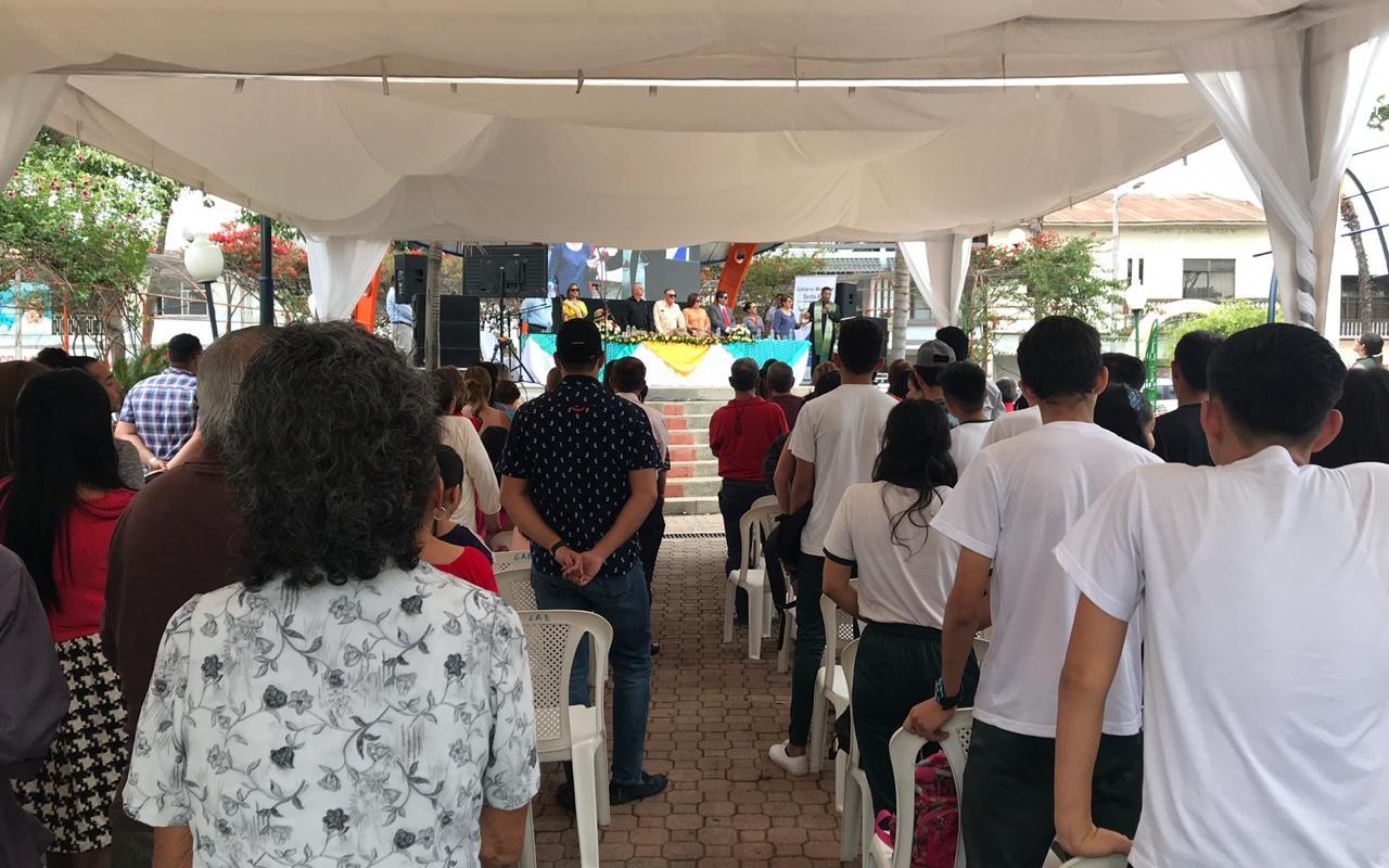 Santanenses celebraron el aniversario XVI del parque Eloy Alfaro