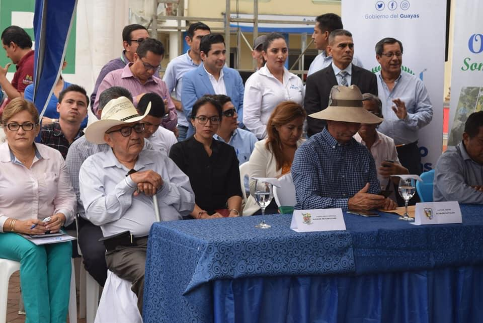 Santa Ana forma parte de los cantones a intervenir dentro del convenio firmado por los prefectos de Guayas y Manabí.