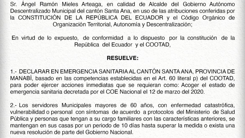 Gobierno Municipal de Santa Ana informa a la ciudadanía.
