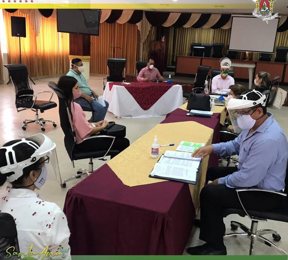 Concejo Municipal en sesión en pleno eligió la vicealcaldía del Gobierno Municipal de Santa Ana.
